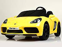 Детский двухместный электромобиль Porsche M 4055ALS-6 Автопокраска желтый Гарантия качества Быстрая доставка