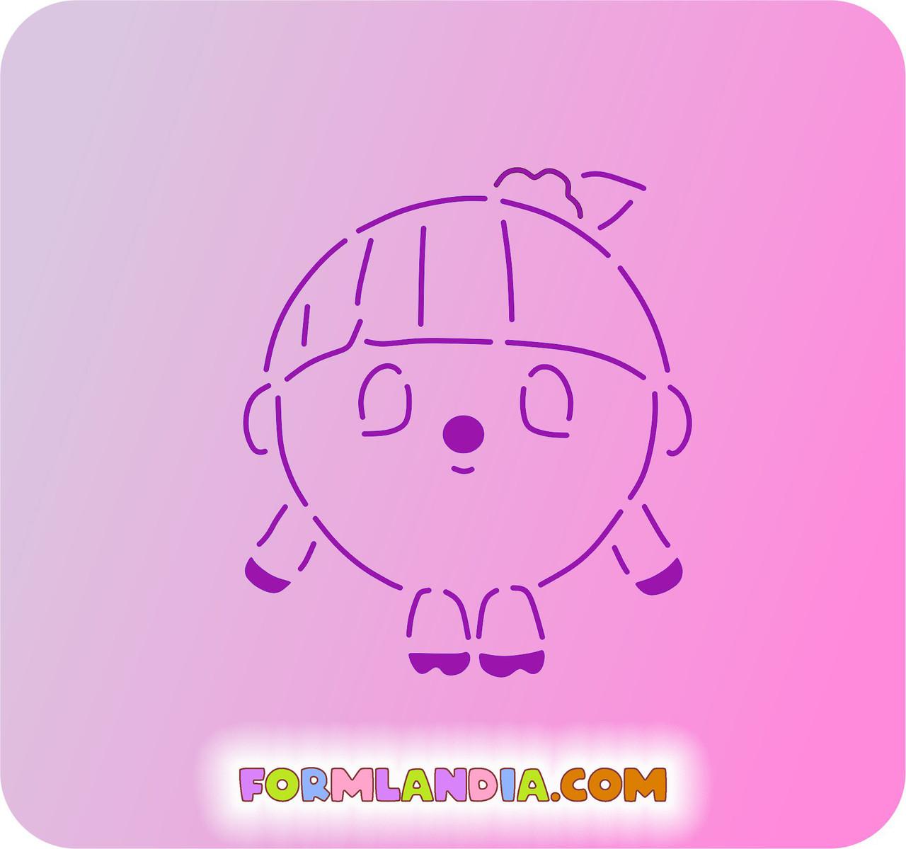 Трафарет + форма Малышарик №3
