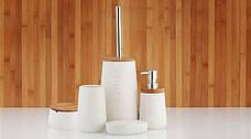 Щетка для WC Wellness доломит / бамбук 12х20 см, фото 2