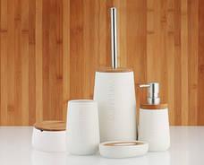 Щетка для WC Wellness доломит / бамбук 12х20 см, фото 3