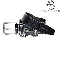 """Ремень мужской джинсовый кожаный Китай 40 мм """"ALEX"""" оптом прямой поставщик"""