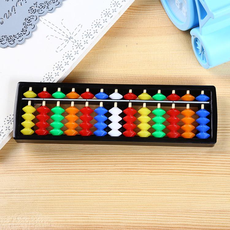 Счеты абакус соробан  с цветными косточками ментальная арифметика 13 рядов