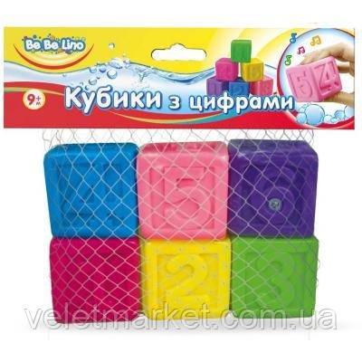 Игрушка для ванной BeBeLino Кубики с цифрами (57089)