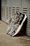 Мужские кроссовки Adidas Nite Jogger 2019 Grey/Black-Orange, фото 2