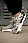 Мужские кроссовки Adidas Nite Jogger 2019 Grey/Black-Orange, фото 3