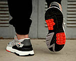 Мужские кроссовки Adidas Nite Jogger 2019 Grey/Black-Orange, фото 6