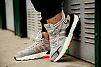 Мужские кроссовки Adidas Nite Jogger 2019 Grey/Black-Orange, фото 5