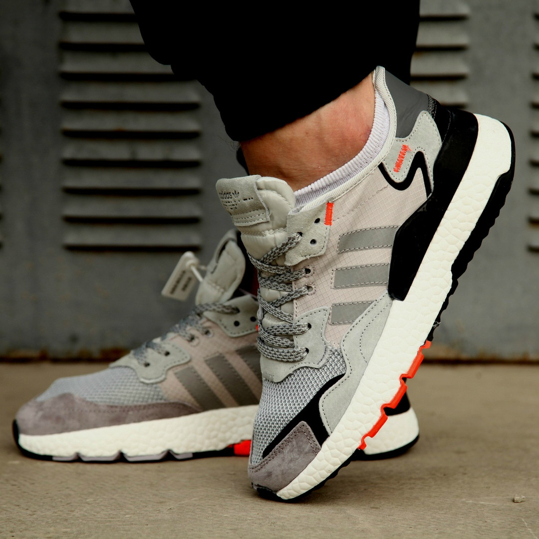 Мужские кроссовки Adidas Nite Jogger 2019 Grey/Black-Orange