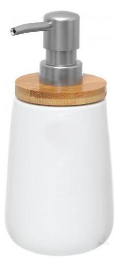 Дозатор для жидкого мыла Wellness доломит / бамбук 8,5х17 см