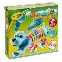 Набір з трафаретами, олівцями і фломастерами Щеня, розбірна іграшка-собачка Crayola, фото 1