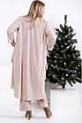0957-3 | Практичный костюм: блуза, брюки, накидка большого размера, фото 4