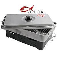 Коптильня портативная EOS OVEN-SA из нержавеющей стали на две горелки для рыбы, мяса и других продуктов