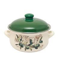 Pot.En. INFINITY 1042 /Кастрюля/эмал.кр/18 см / 2.4 л /Olive (6435427)
