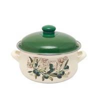 Pot.En. INFINITY 1042 /Кастрюля/эмал.кр/16 см / 1.8 л /Olive (6435426)