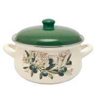 Pot.En. INFINITY 1042 /Кастрюля/эмал.кр/20 см / 3.3 л /Olive (6435428)