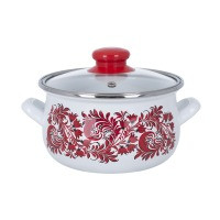 Pot.En. INFINITY SD 1328B /Каструля/cк.кр/18 см / 2.4 л /Red flowers (6415013)