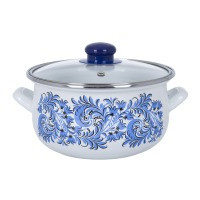 Pot.En. INFINITY SD 1328C /Каструля/cк.кр/16 см / 1.8 л /Blue flowers (6415017)