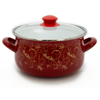 Pot.En. INFINITY SD 1375 /Кастрюля/cт.кр/18 см/2.4 л/Красный вензель (6367465)