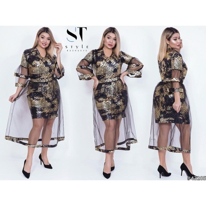 Шикарное платье с юбкой  мод.03932