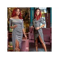 Коктейльное платье миди Блеск, фото 1