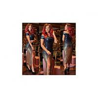 Вечернее платье Пайетка Амбре мод.03910 ХЛ+