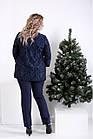 01006-1 | Синий костюм: Нарядная блузка и брюки большого размера, фото 4