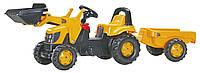 Оригинал. Трактор Педальный с Прицепом и Ковшом Kid JCB Rolly Toys 23837