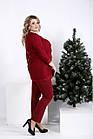 Стильный костюм-двойка бордового цвета большой размер 42-74. 01006-3, фото 3