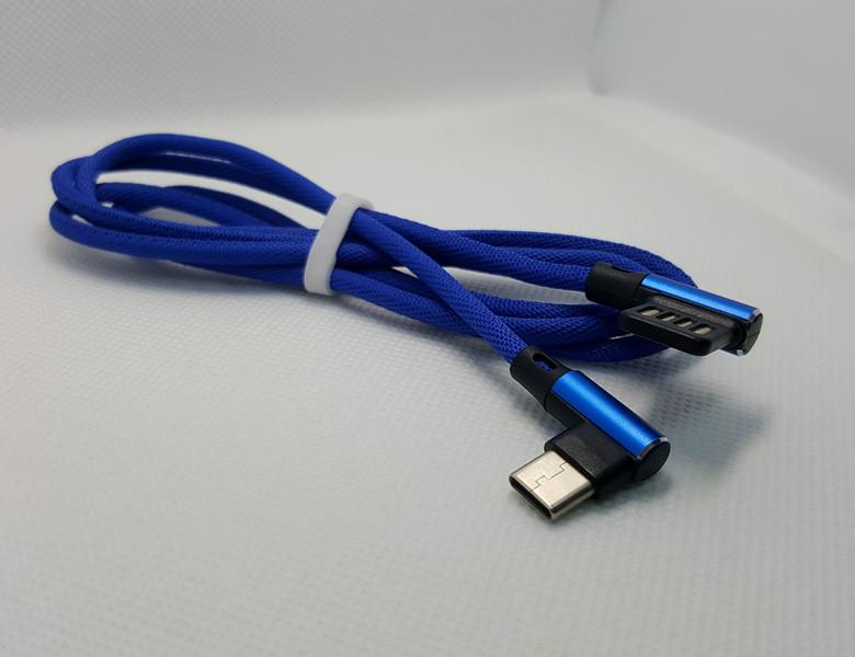 Кабель угловой USB type-c, Синий