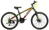 Велосипед спортивный Impuls 24 CACTUS, черно-красный
