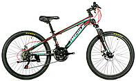 Велосипед спортивный Impuls 24 CACTUS, черно-бирюзовый
