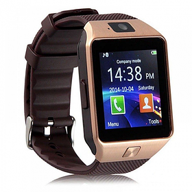 Умные смарт часы Smart watch DZ09 Золото