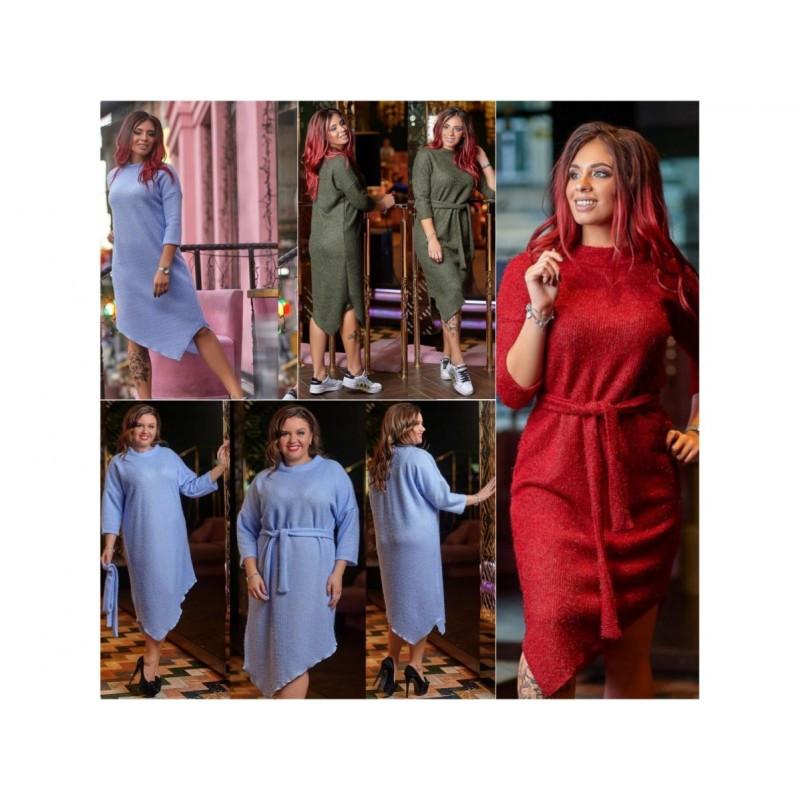 Элегантное вязаное платье мод. 3884
