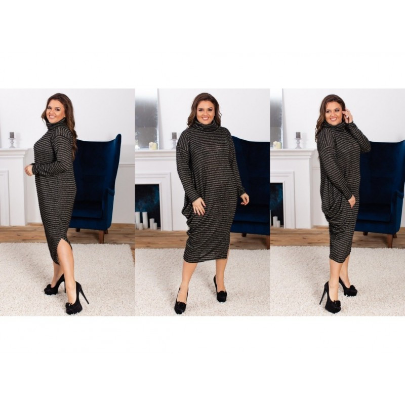 Платье  вязка с люрексом ХЛ+ мод.5151