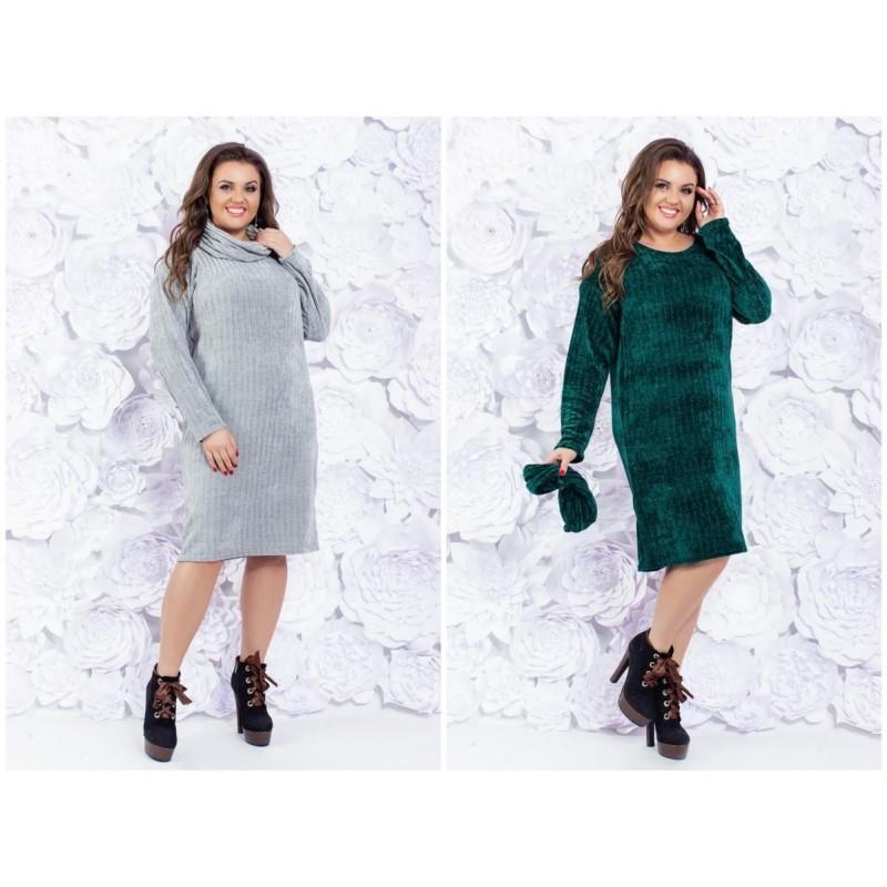 Платье вязка с хомутом  мод.5154 ХЛ+*