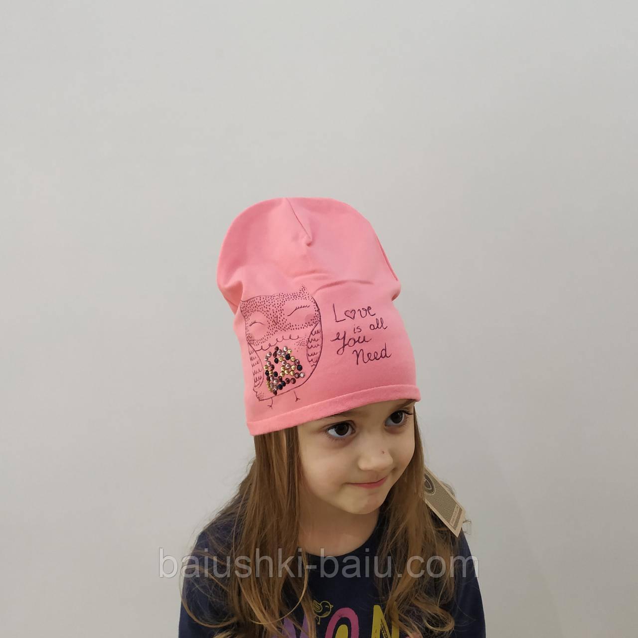 Детская шапка для девочки (шанон), на 2-6 лет