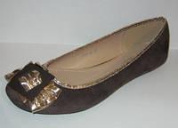 Балетки женские коричневые замшевые 36