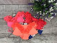 Купальник для девочек раздельный розовый красный коралл