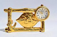 Коллекционные миниатюрные настольные часы! Позолота! Germany!