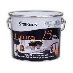Універсальна фарба для дерева та металу Teknos Futura 15, 2.7л