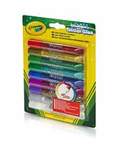 Жидкий клей с блестками (9 тюбиков с цветным блестящим клеем), Crayola
