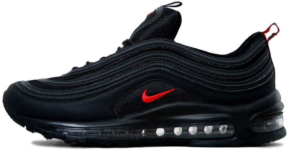 f2ea1d4e Мужские кроссовки Nike Air Max 97 Black/Red (в стиле Найк Аир Макс 97