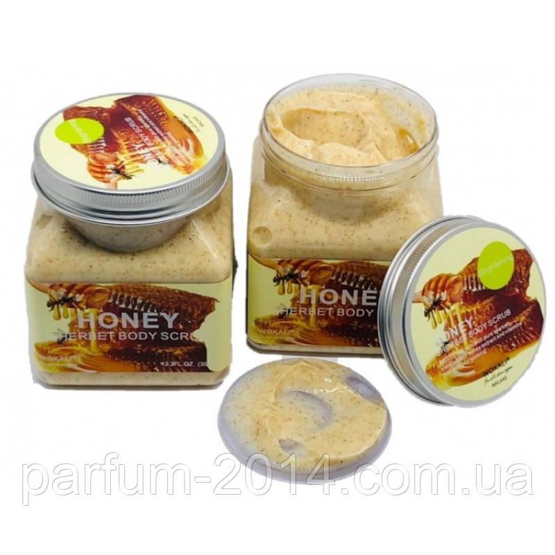 Медовый Скраб для тела Wokali Honey Sherbet Body Scrub 350 мл (реплика)