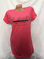 Женская котоновая футболка норма (в уп. 6 расцветок)  оптом в Одессе., фото 1