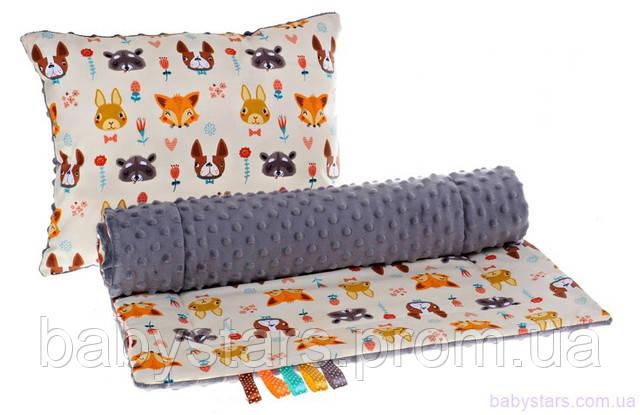 подушка и одеяло в коляску