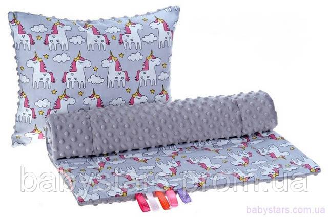 одеяло и подушка для детской коляски