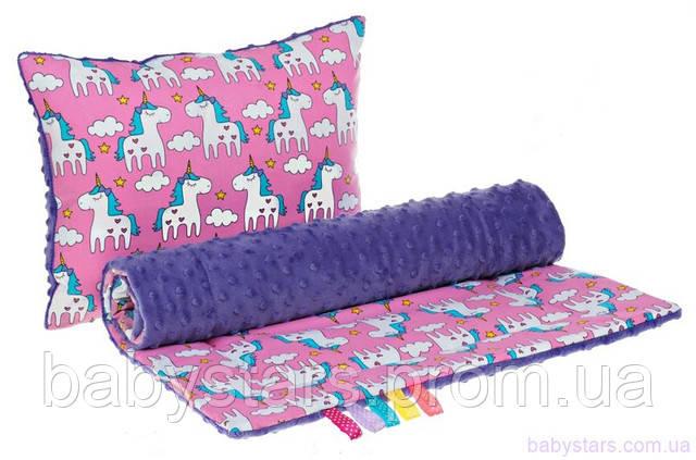 подушка и одеяло для детской коляски