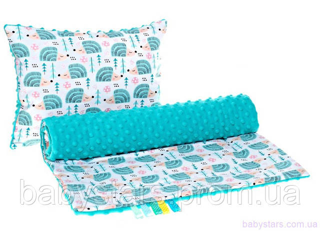 набор для коляски: подушка и одеяло