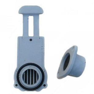 Клапан сливной транцевый 21 мм (шибер) Kolibri серый