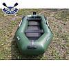 Надувная лодка Ладья ЛТ-290-ЕВТ с транцем и жестким дном слань-книжкой трехместная  сдвиж. сиденье, фото 3